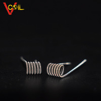 factory supply triple clapton Ni80 wire three core parallel clapton for ecig rebuild atomizer