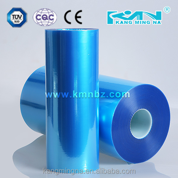 Chinese supplied blue PVC stretch blister film