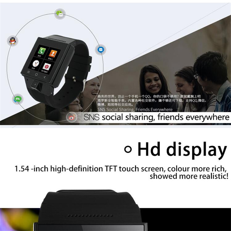 Android 4.4 Smart Watch Smartphone 3G Dual Core GPS 2.0MP Camera Bluetooth gsm smart phone ith sim card slot,2g/3g for Andriod
