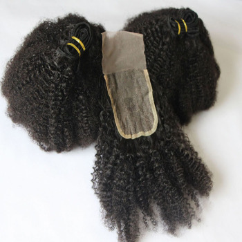 Afro Coily Kinky Curly Hair Lace Closure