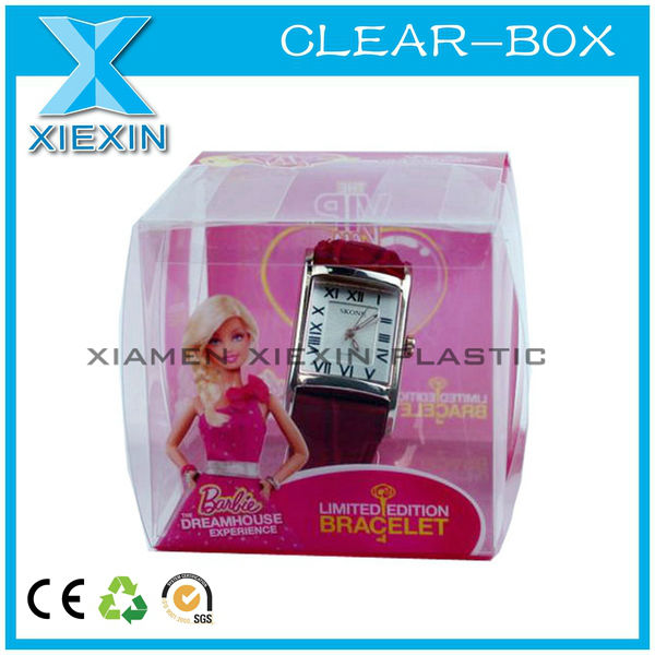 Cheap clear watch printing stock box plastic package