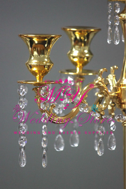Wedding candelabra centerpieces gold plated candle holders