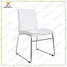 WorkWell hot sale high quality PU leather without armrests dining chair with metal frame Kw-D4032a