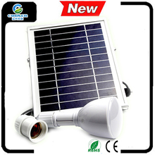 led mini solar light bulb 2w panel with aluminum frame portable solar led bulb