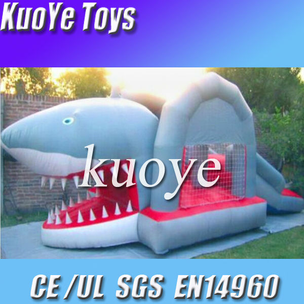 inflatable shark combo,shark jumping bouncer slide combo,children inflatable combo games