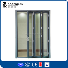 ROGENILAN 75 series grey color with locks exterior accordion doors
