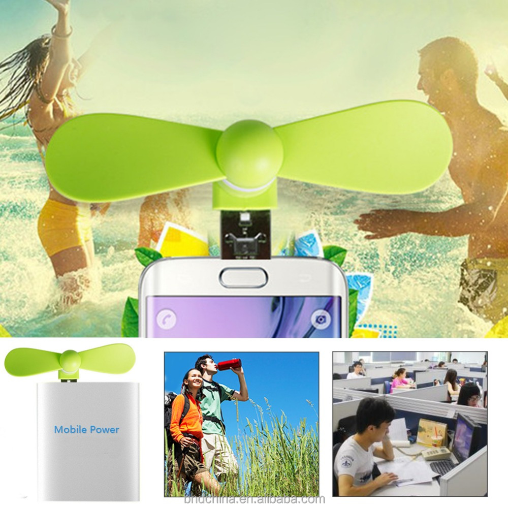 fashion Promotional Gift Mini Phone portable otg advwantage of usb Fan