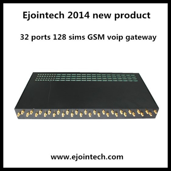 2014 new voip product 32 ports GSM gateway 32/128 goip support asterisk compatible ip phones
