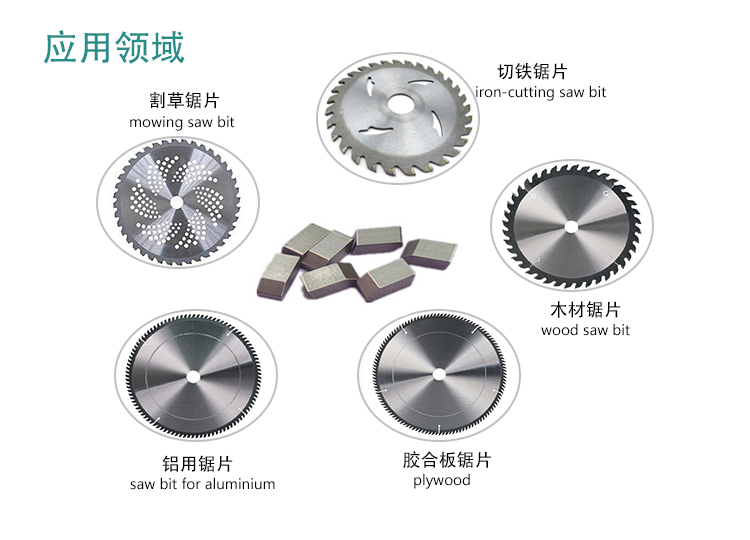 Carbide saw tips for cuttong steel and iron