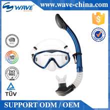 China Diving Set With Big Eye Mask And Easy Breath Dry Snorkel For Adult