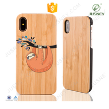 Wholesale hot sale simple customize mobile accessories for iPhone 7 case for iPhone 6 for iphone8 wooden bamboo phone case