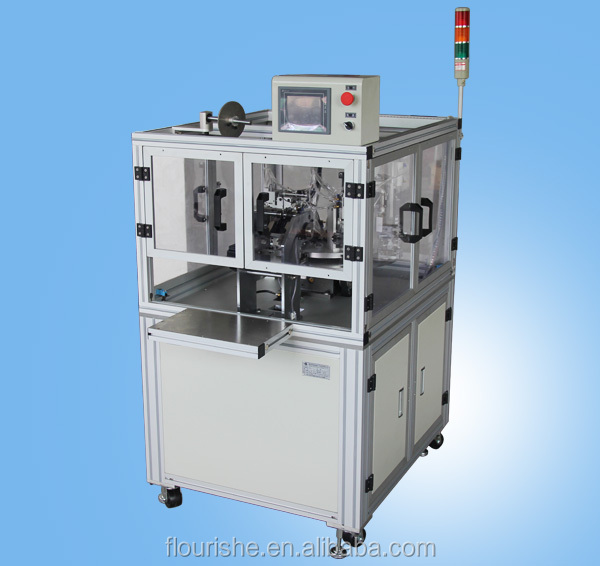 Automatic axial fuse bending and casing pipe machine
