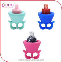 Soft Flexible Silicone Gel Wearable Nail Polish Varnish Bottle Holder Ring for Female Women Girls