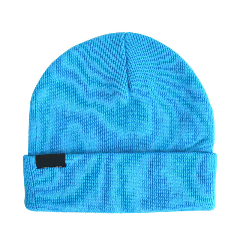 Winter blue Paypal accept sport 100%acrylic beanie hat custom