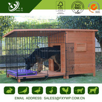 Quality-assured prefabricated solid wood dog house for oudoor