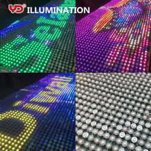 outdoor IP68 led mesh pixel screen curtain for advertising display