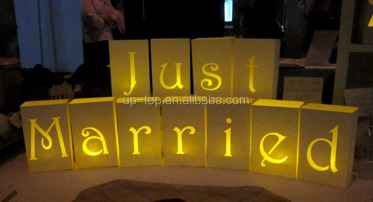 Durable service lower price colorful luminary paper candle bags