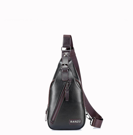 China Alibaba Supplier Fashion Trend Waterproof Leather Chest Bag High Quality Men Waist Bag