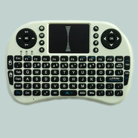 whole sales 2.4GHz wireless mini Keyboard with Touchpad remote control fly air mouse