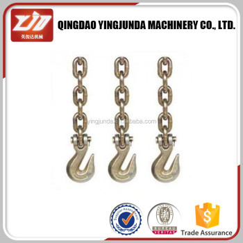 USA standard chain with hooks g43 chain with clevis/eye grab hooks on both ends