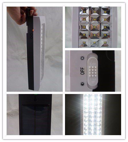 45 led rechargeable emergency light lamp with solar battery light