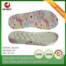 Kid pu soft sole for slipper