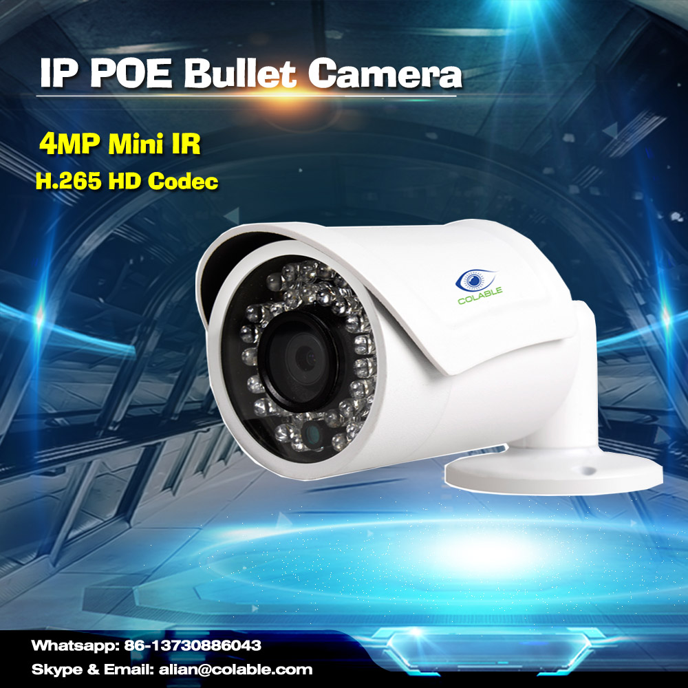 Best sale COL-SW1451WR1P 4MP H.265 Mini IR Bullet Camera ir camera