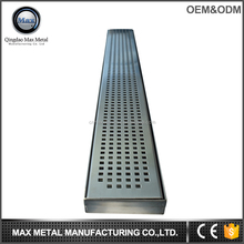 Tile insert pattened floor drain, precast water drainage channel