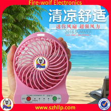 18650 rechargeable abs plastic mini usb fan mini squirrel cage fan used for Traveling in summer