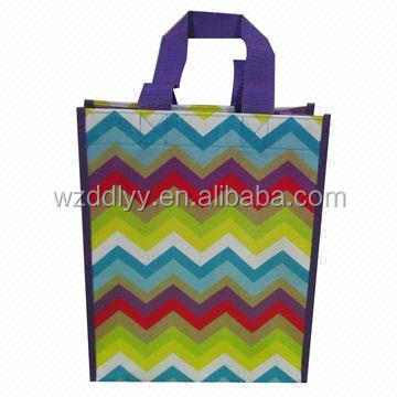 Abstract Logo Print non woven bags with handle