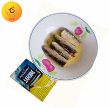 Canned sardines fish in sunflower oil 125g canned fish canned seafood canned food