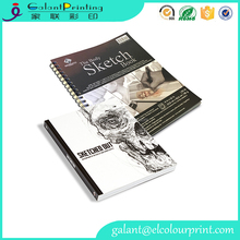 2017 fashion design spiral leather hardcover drawing sketch book