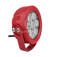 Round 70 Watt LED Light Adjustable Magnetic Mount Red
