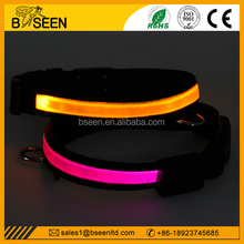High quality solar charge collar christmas led dog collars martingale dog collars