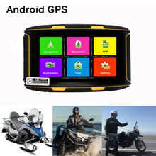 "Motorcycle GPS navigator 5"" Android 4.4.2 MOTO GPS Navigation Waterproof with Bluetooth 4.0 GPS Tracker"