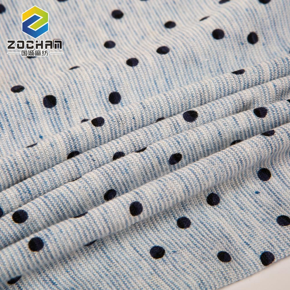 Wholesale products cotton linen jersey knit fabric for Garment