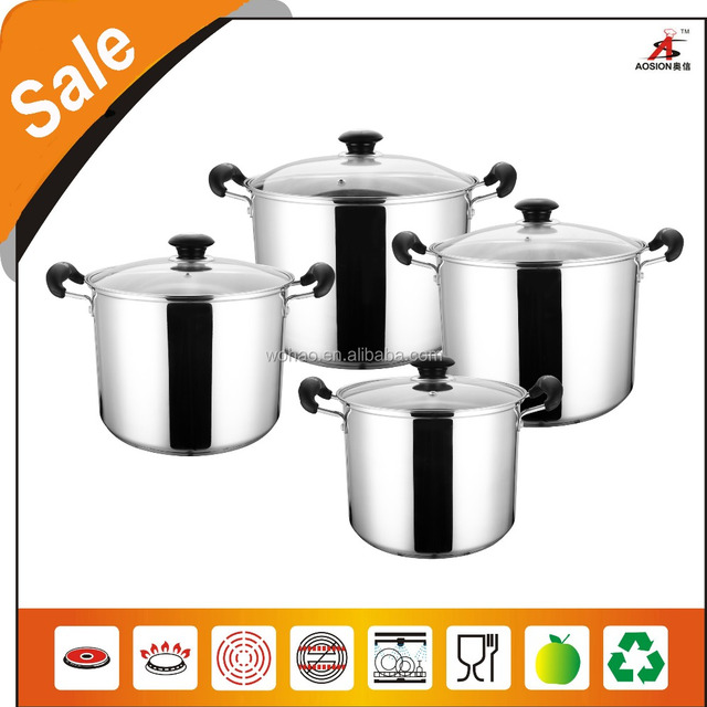 Rivet Bakelite handle stainless steel large casserole sets