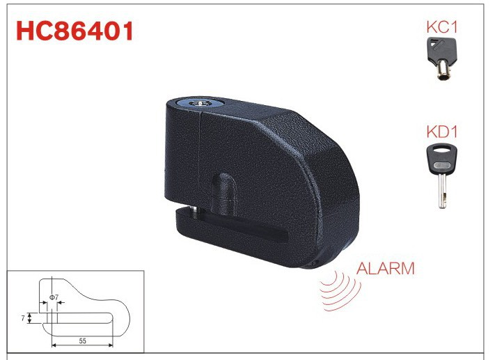 disc Lock alarm ,motorcycle accessories ,Aluminum padlock lock