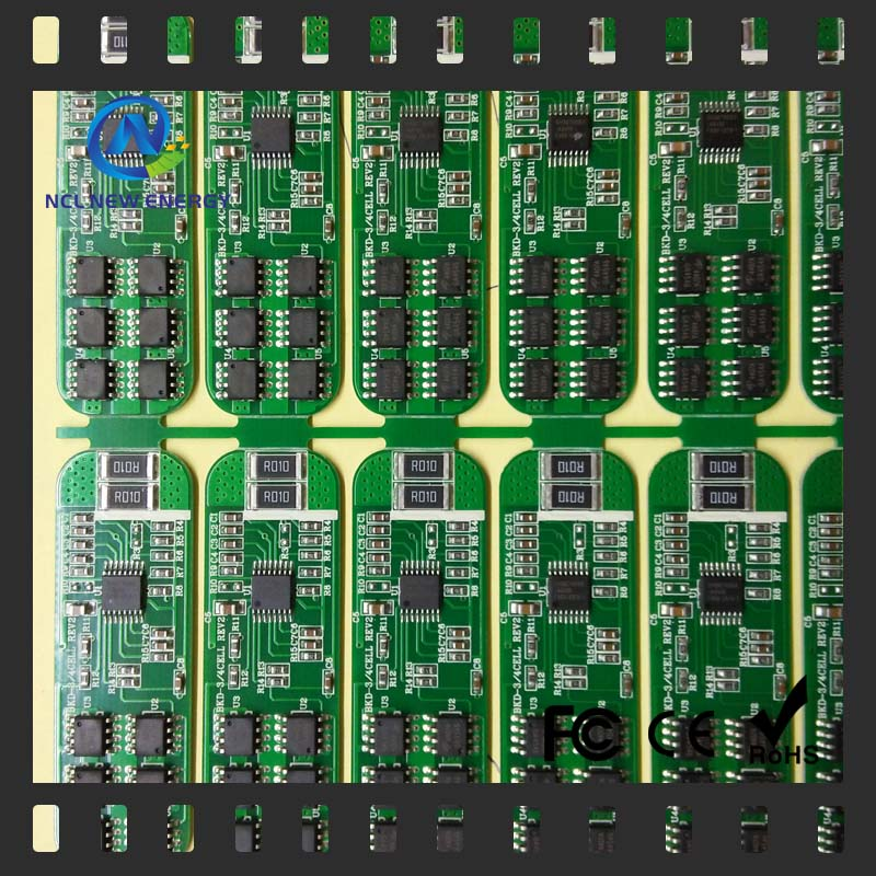 air conditioner parts 94v-o lifepo4 circuit 5S 14V unicycle bms pcb board 10A