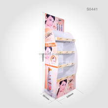 New Design Cardboard Display Stand for Skincare, Floor Body Wash Cardboard Display Rack for Supermarket