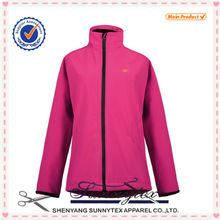Sunnytex OEM wholesale outdoor 1000mm waterproof women cheap softshell jacket 2015