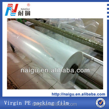 Roll plastic packing material for mattress