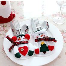 new brand 2016 christmas snowman tableware cutlery sets cover