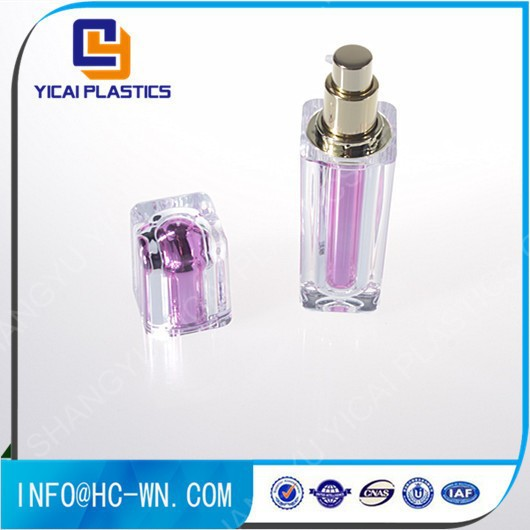 Square Plastic Cosmetic Crystal Head Bottle
