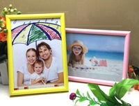 Cheap plastic Small Size home decorated special moments photo frames colorful PS Picture