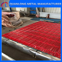 28 Gauge Color Coated Galvanized Steel Roof Tiles