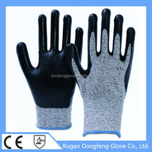China HPPE 13G Nitrile Coated Level 5 Cut Resistant Safety Working Gloves For Glass Industry