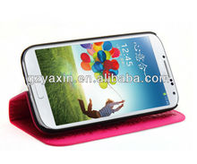 Top stand leather case flip cover for samsung galaxy s4 i9500