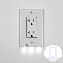 Hallway Kitchen Emergency Safe Lamp LED Plug Cover Light Sensor Night Lamp Angel Light Wall Outlet Night Light Socket Wall Lamp