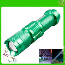 Top Quality Strong Light Mini CREE LED Flashlight Green